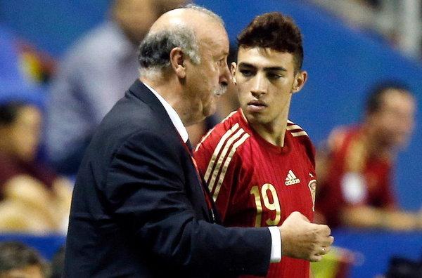 Munir en su debut (foto: www.mundodeportivo.com)