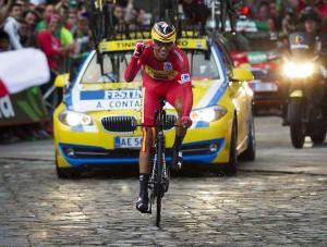 Alberto Contador, en la última etapa de la Vuelta España