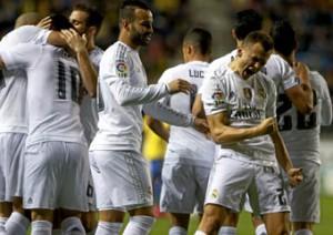 Denis Cherishev celebra el primer gol madridista en Cádiz